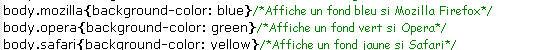 CSS, selecteur de navigateur via javascript