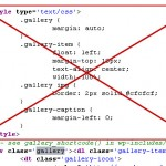 WordPress, retirer les CSS du shortcode [gallery]